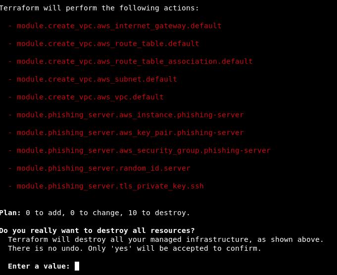 Going Phishing with Terraform